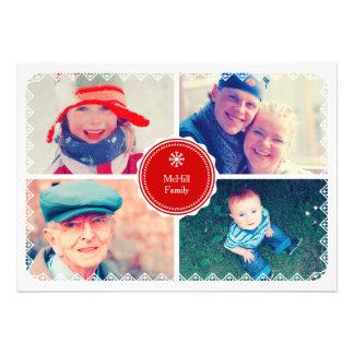 Cartões de natal convite personalizado