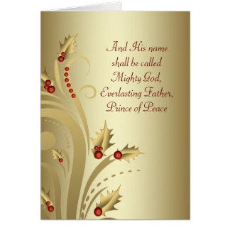 Cartões de Natal cristãos do ouro vermelho