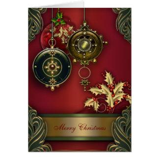 Cartões de Natal cristãos vermelhos