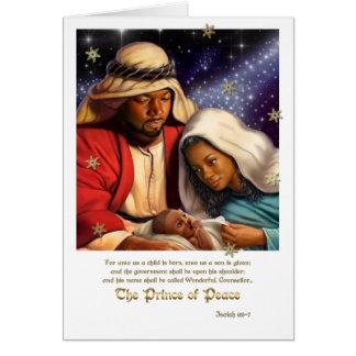 Cartões de Natal da arte da natividade do