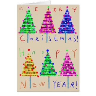 Cartões de Natal da arte dos miúdos do Feliz Natal