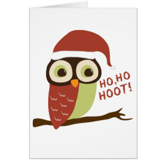 Cartões de Natal da buzina da coruja do papai noel