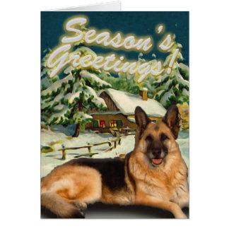 Cartões de Natal da cabine da neve do german