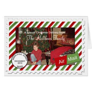 Cartões de Natal da foto do feriado do correio