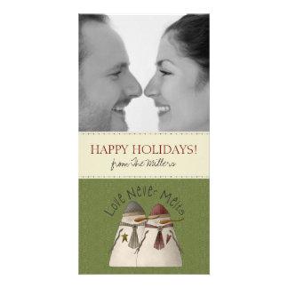 Cartões de Natal da foto dos casais Cartão Com Foto