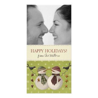 Cartões de Natal da foto dos casais Cartao Com Fotos