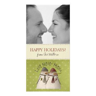 Cartões de Natal da foto dos casais Cartoes Com Foto