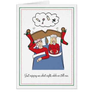 Cartões de Natal da gravidez - noites silenciosas