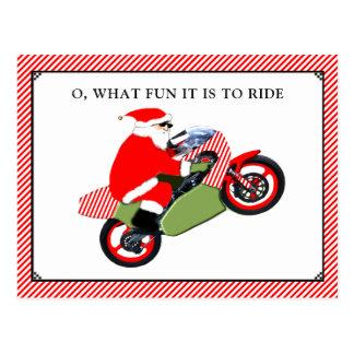 cartões de Natal da motocicleta