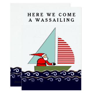 Cartões de Natal da navigação
