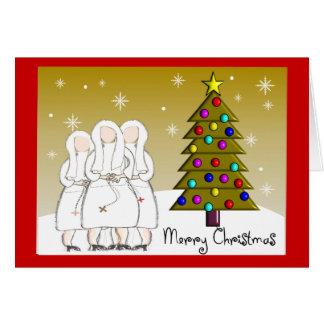 Cartões de Natal das freiras e design