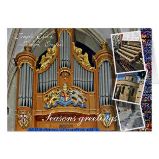 Cartões de natal de Londres da igreja do templo