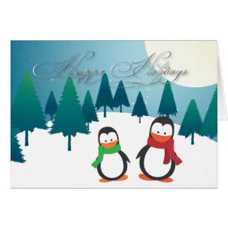 Cartões de natal de PixDezines, pinguins