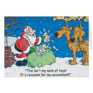 Cartões de Natal de Repceits do contador do papai