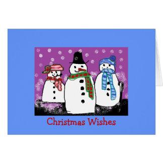 Cartões de Natal de Snowfolk