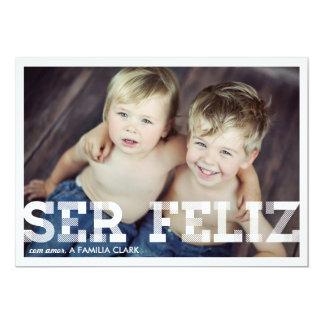 Cartões de Natal de Vindima Alegria Convite 12.7 X 17.78cm