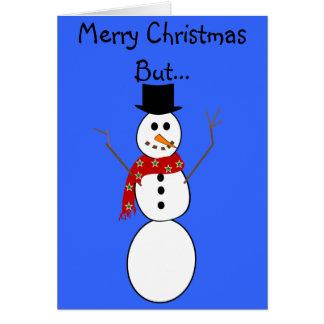 Cartões de Natal divertidos do boneco de