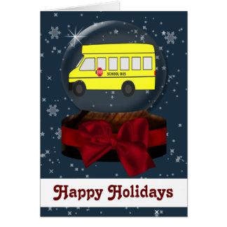 cartões de Natal do auto escolar
