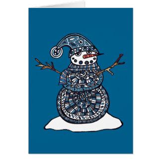 Cartões de natal do boneco de neve