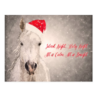 Cartões de natal do cartão do cavalo do Natal