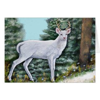 Cartões de natal do cervo de Frost
