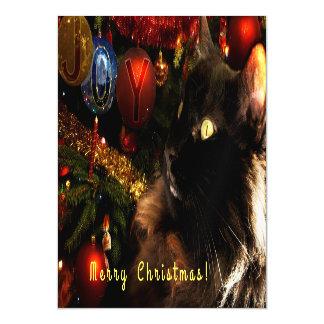 Cartões de natal do gatinho