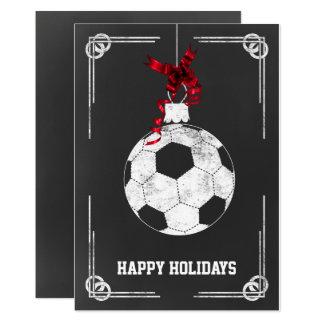 cartões de Natal do jogador de futebol do quadro
