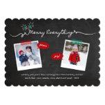 Cartões de natal do Natal dos viscos do quadro Convite 12.7 X 17.78cm
