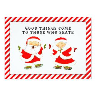 cartões de Natal do patinagem no gelo