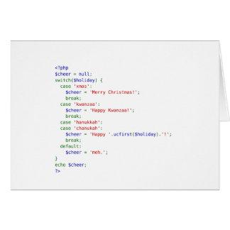 Cartões de natal do PHP