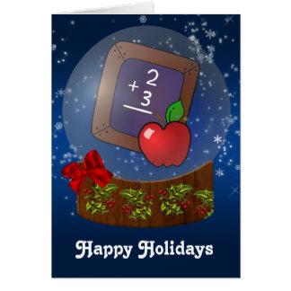 cartões de Natal do professor
