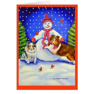Cartões de Natal do Sheepdog de Shetland