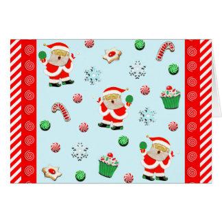 cartões de Natal do ténis de mesa
