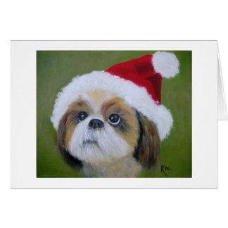 Cartões de Natal do Tsu de Shih