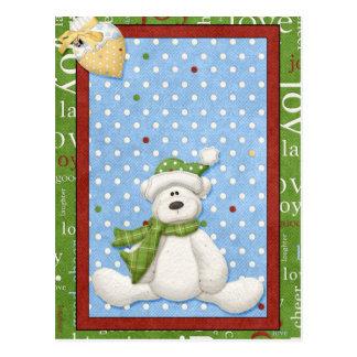 Cartões de Natal do urso polar