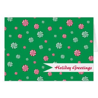 Cartões de natal do verde dos doces de Peppermint