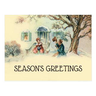 Cartões de natal do Victorian do vintage vizinhos