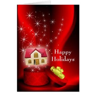 cartões de natal dos bens imobiliários