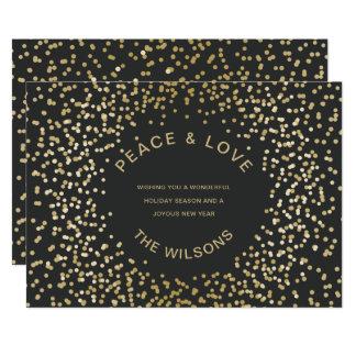 Cartões de natal dos confetes do ouro