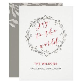 Cartões de natal elegantes da grinalda da aguarela