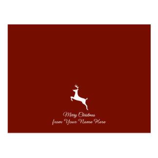 Cartões de natal elegantes da silhueta da rena