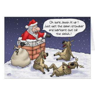 Cartões de Natal engraçados: Colado