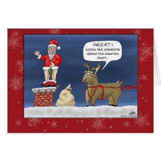 Cartões de Natal engraçados: Cravou a gemada