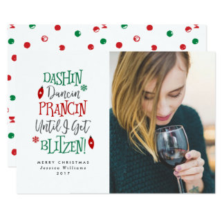 Cartões de Natal engraçados de Dashin Dancin Convite 12.7 X 17.78cm