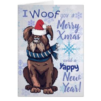 Cartões de natal engraçados do cão dos desenhos