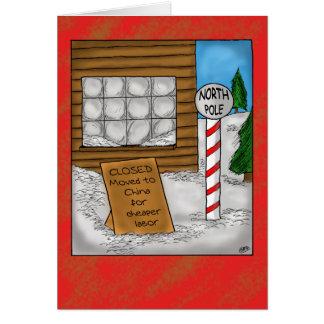 Cartões de Natal engraçados: Mover-se do Pólo