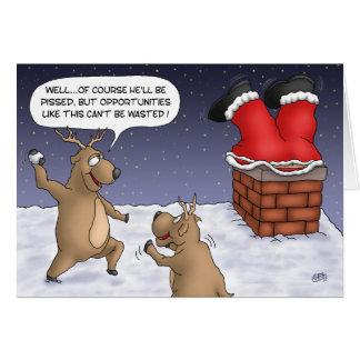 Cartões de Natal engraçados: Oportunidades