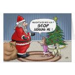 Cartões de Natal engraçados: Pare de julgar
