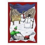 Cartões de Natal engraçados: Pro-Neve