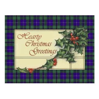 Cartões de natal entusiastas, tartan de Douglas Cartão Postal